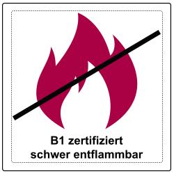 B1 zertifizierte Gerüstbanner und Werbebanner