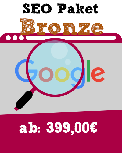 SEO Paket ab Vorlage Bronze