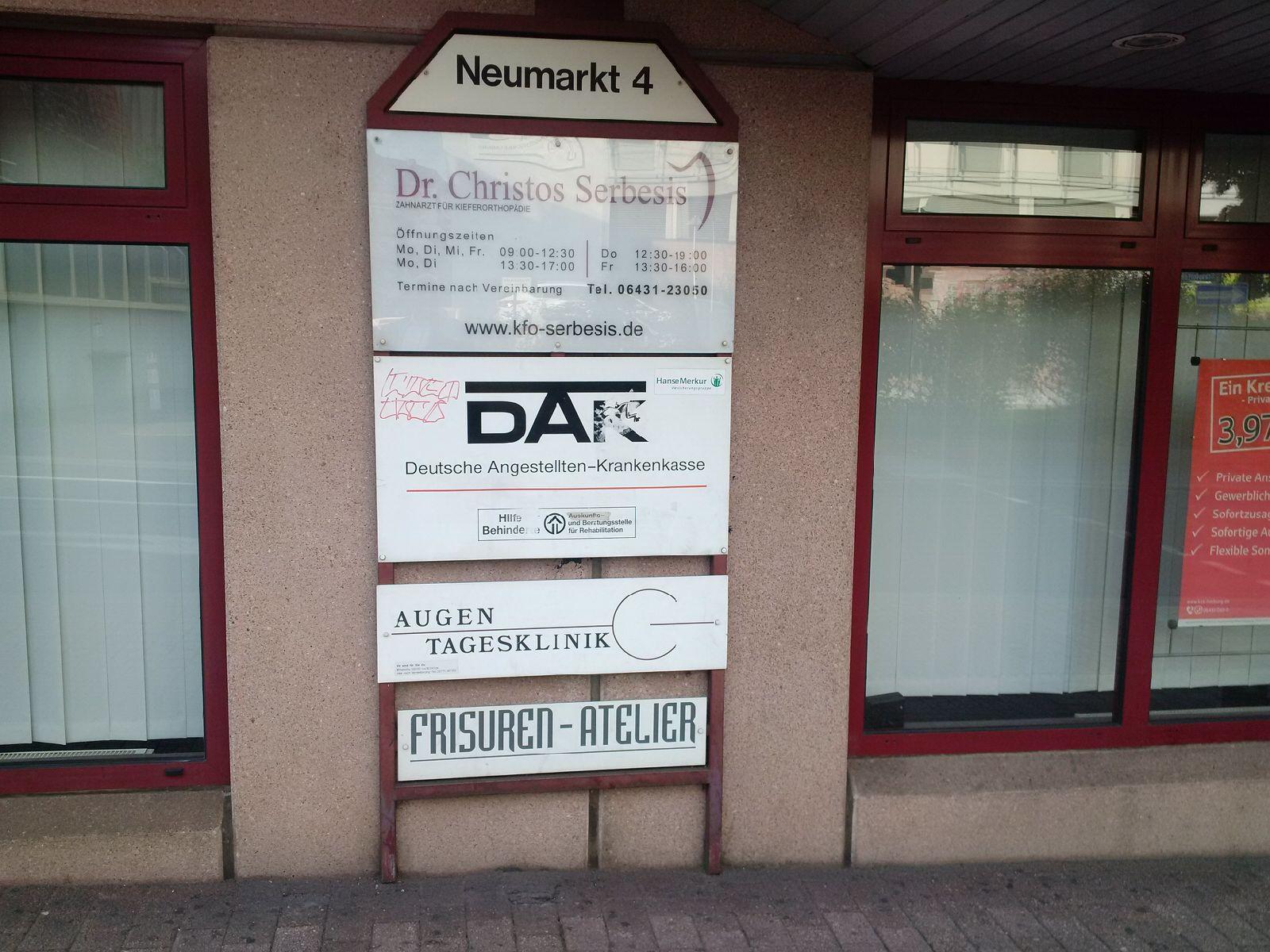 ARTEMIS Augenkliniken Limburg Neumarkt Straße 1 Vorher