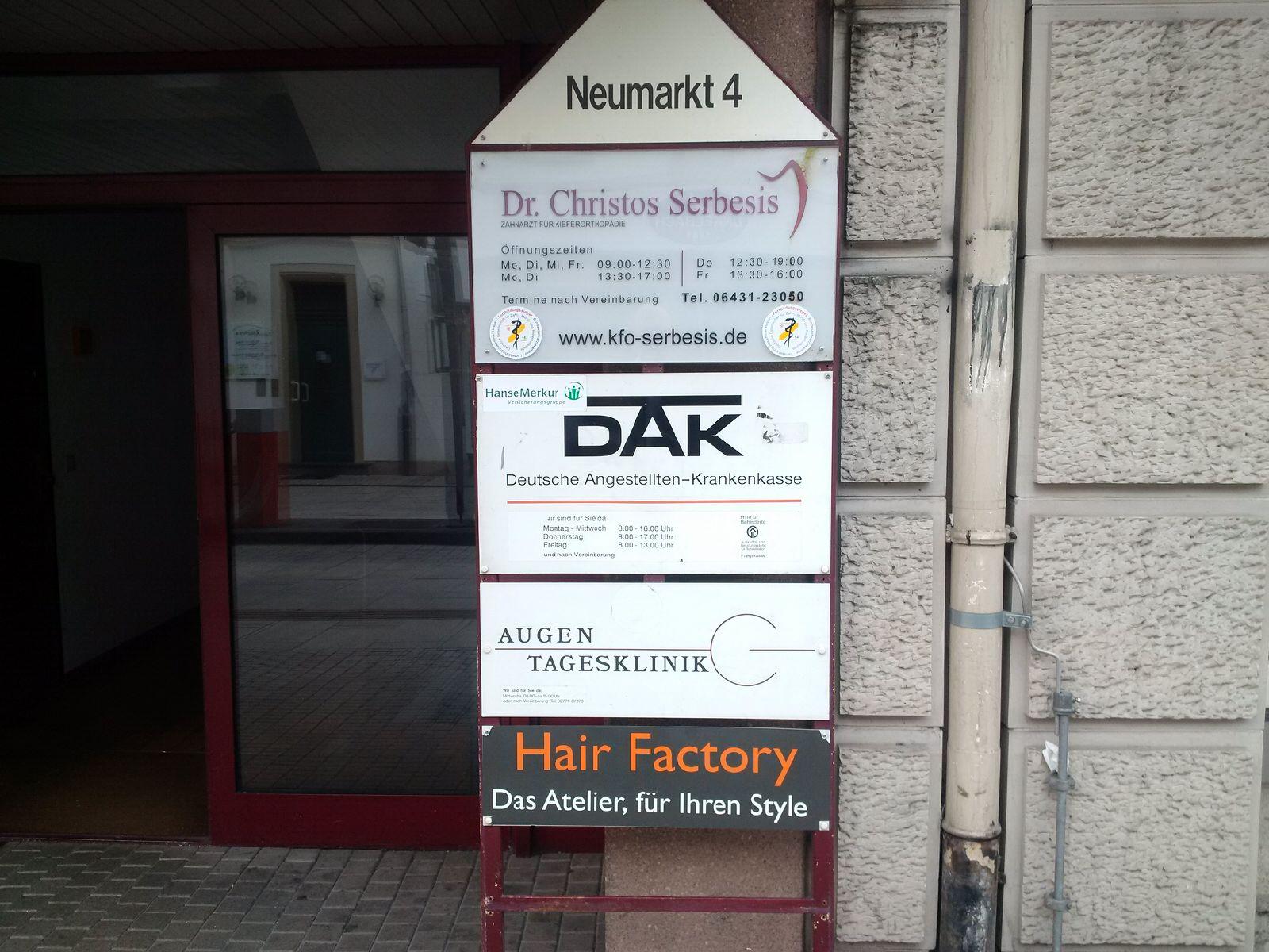 ARTEMIS Augenkliniken Limburg Neumarkt Straße 2 Vorher
