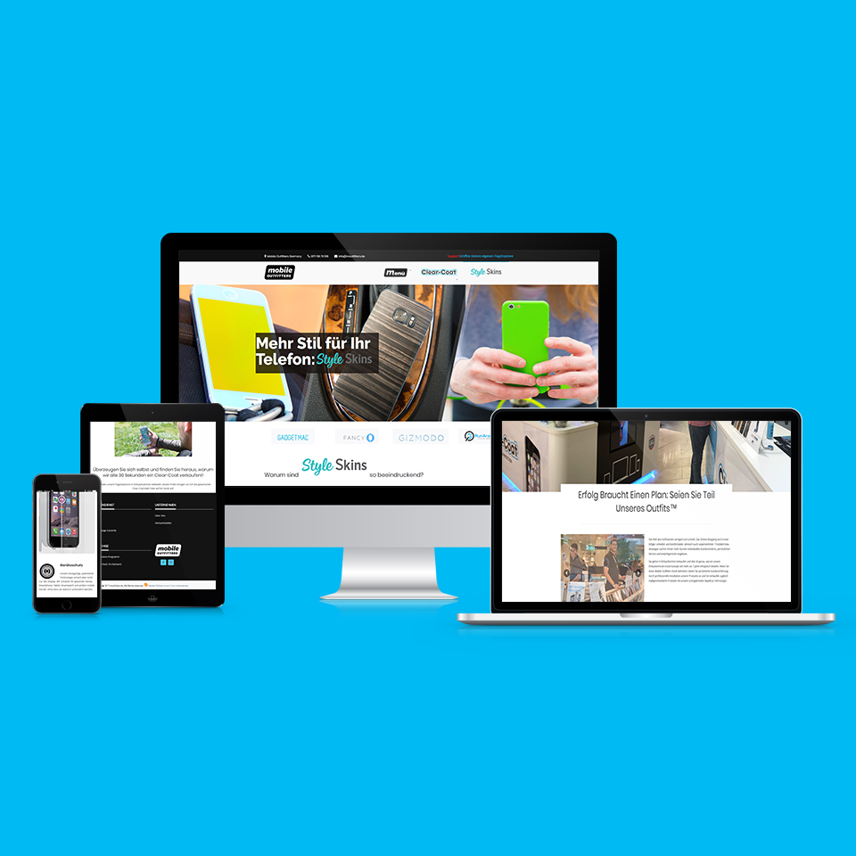 Webdesign Webseite Mobile Outfitters