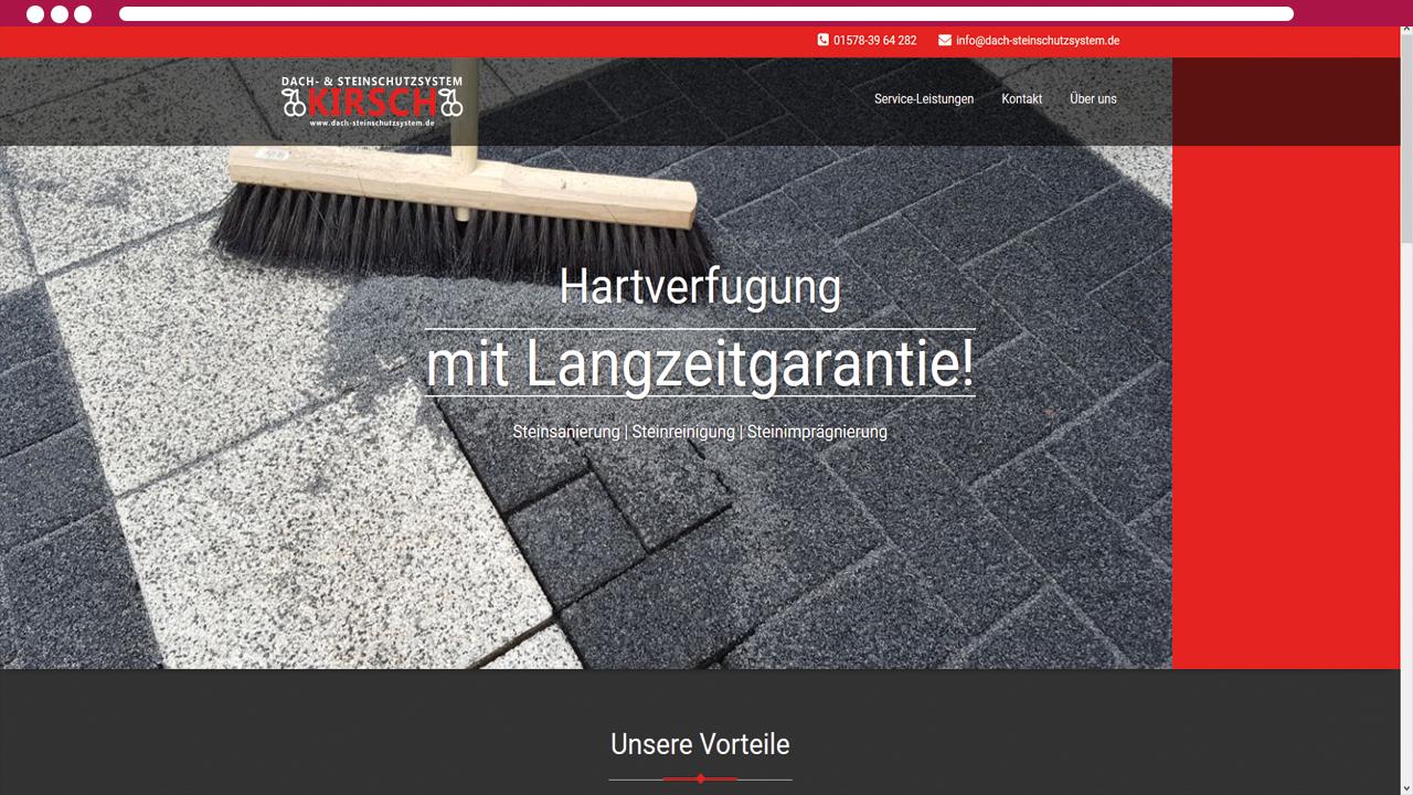 Steinreinigung und Dachreinigung Gießen und Limburg Dach- Steinschutzsystem KIRSCH