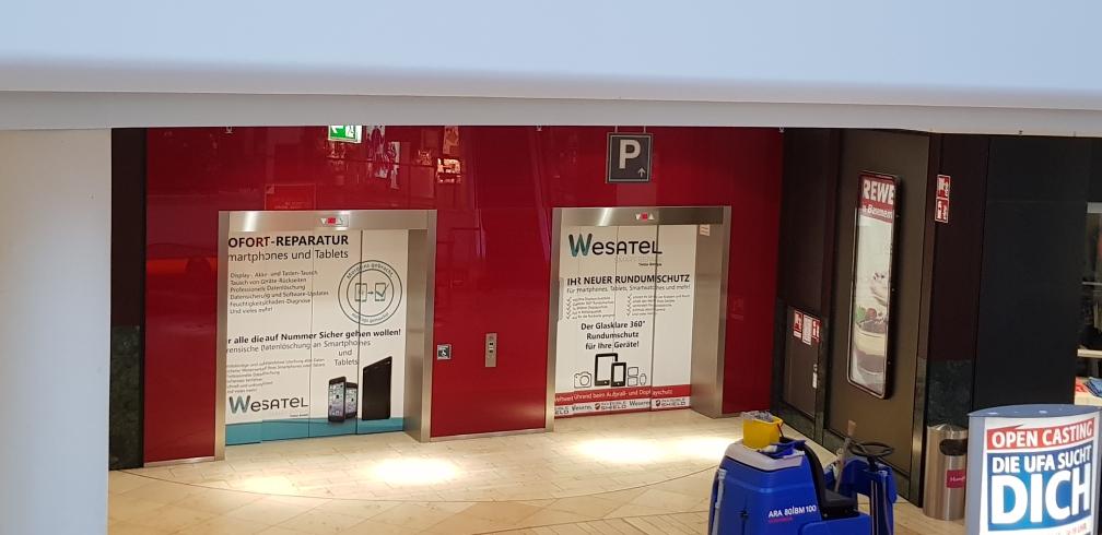 Aufzug Folienbeschriftung Leverkusen