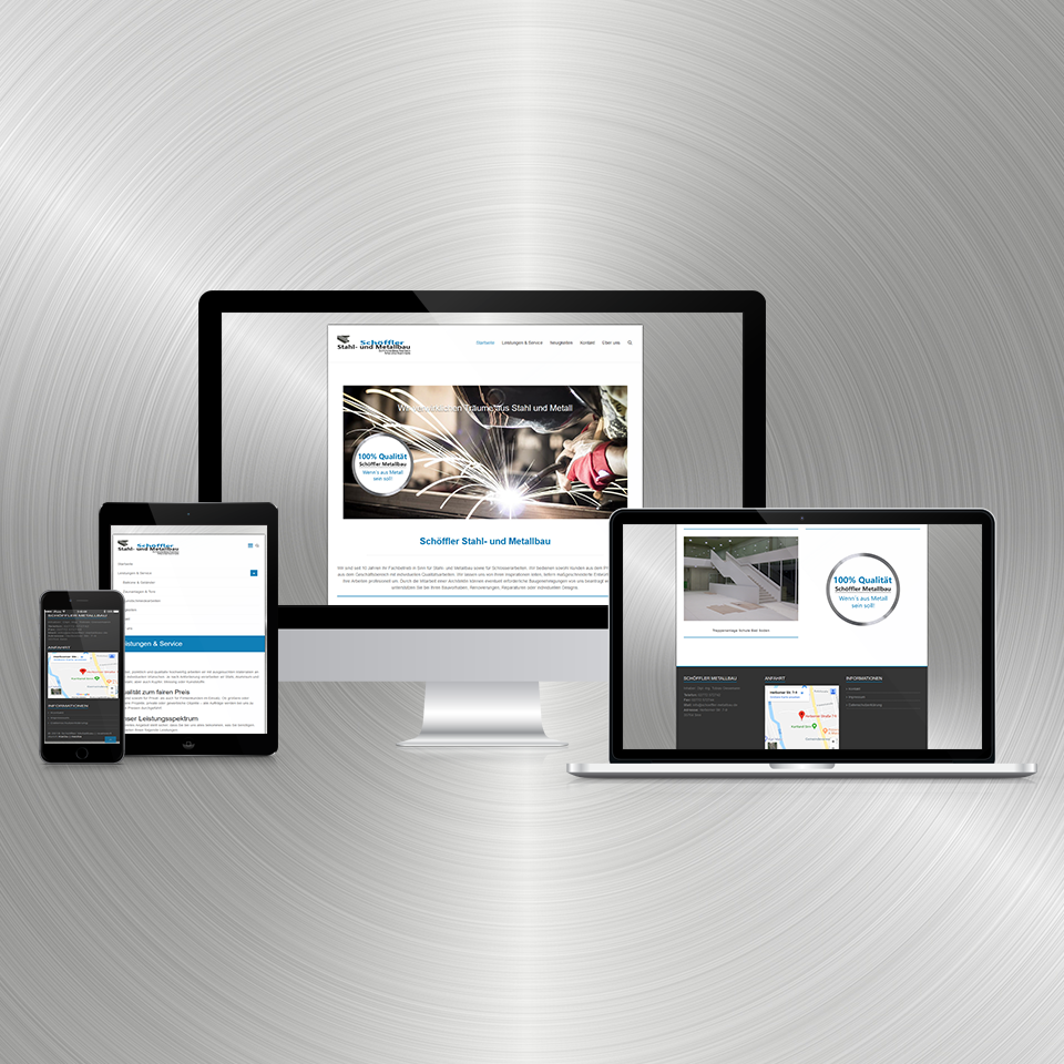 Schöffler Metallbau Sinn Responsive Webdesign