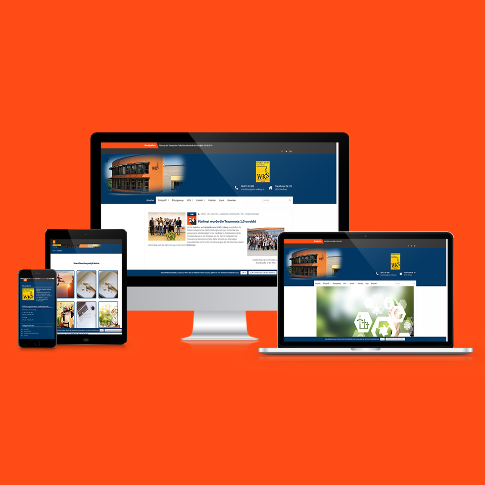 Responsive Webdesign Wilhelm Knapp Schule
