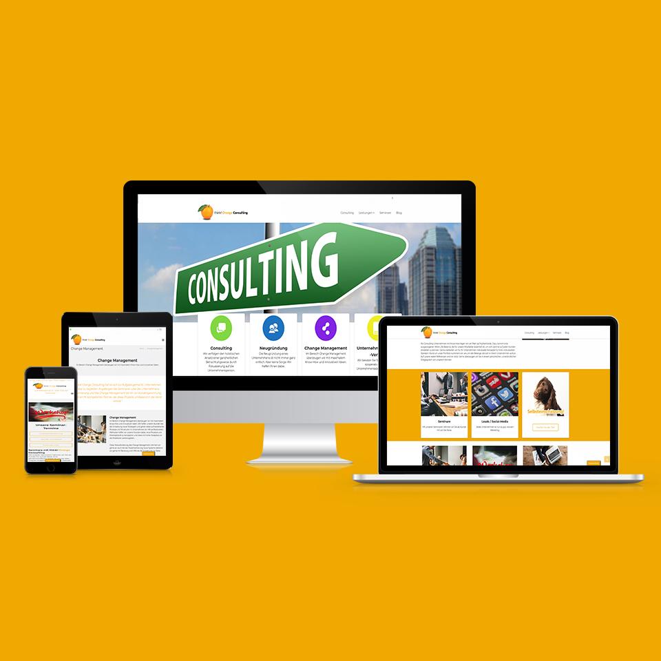 think! Orange Consulting Webseite und Webdesign